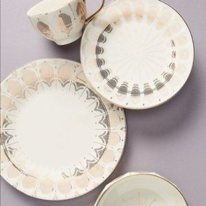 New! Anthropologie Art Deco Dinner Plates